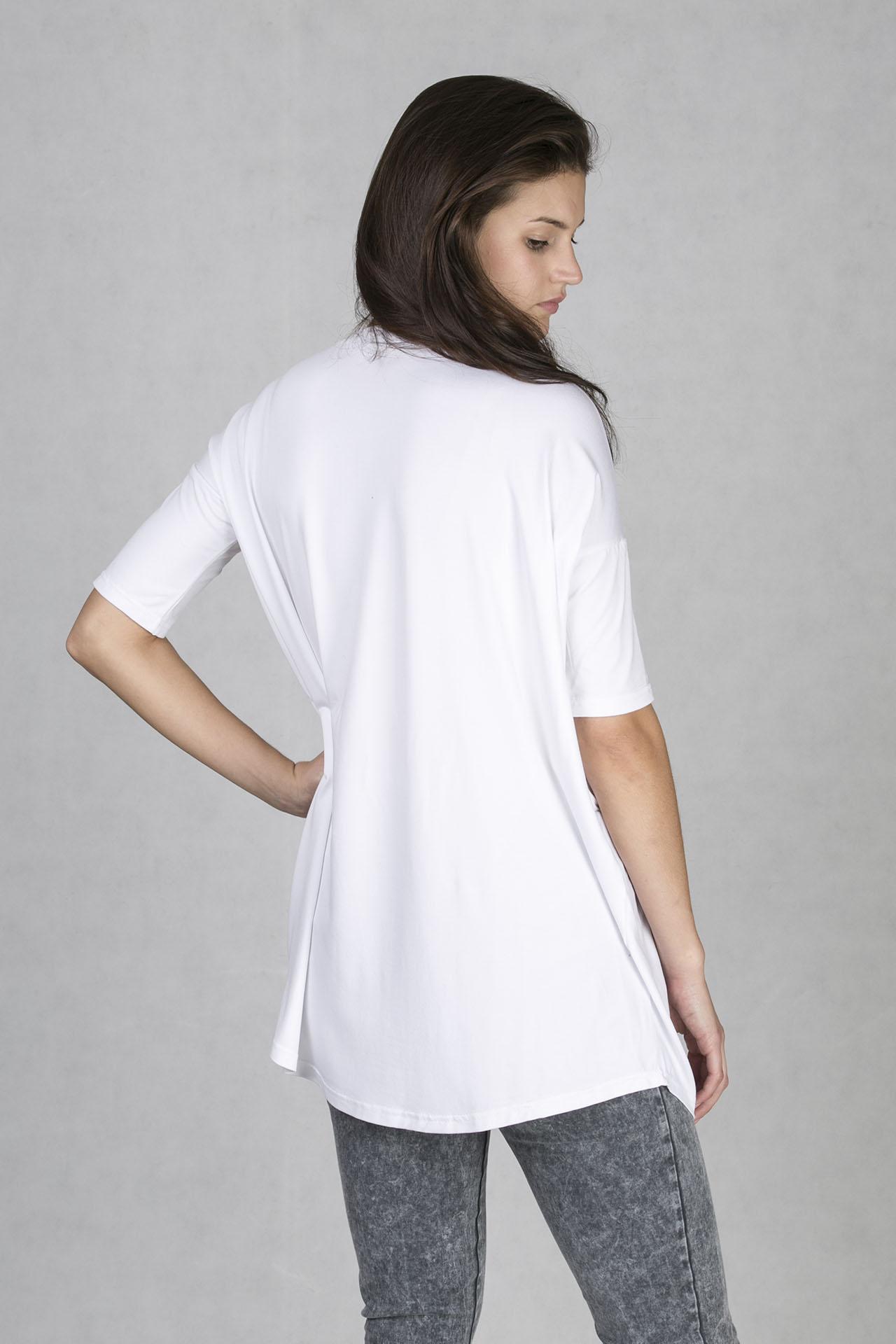 ONEDAY t-shirt girlfriend HEAD. Dámské tričko v prodloužené délce s  originálním barevným akvarelovým potiskem od Víta Svobody ... f819283203
