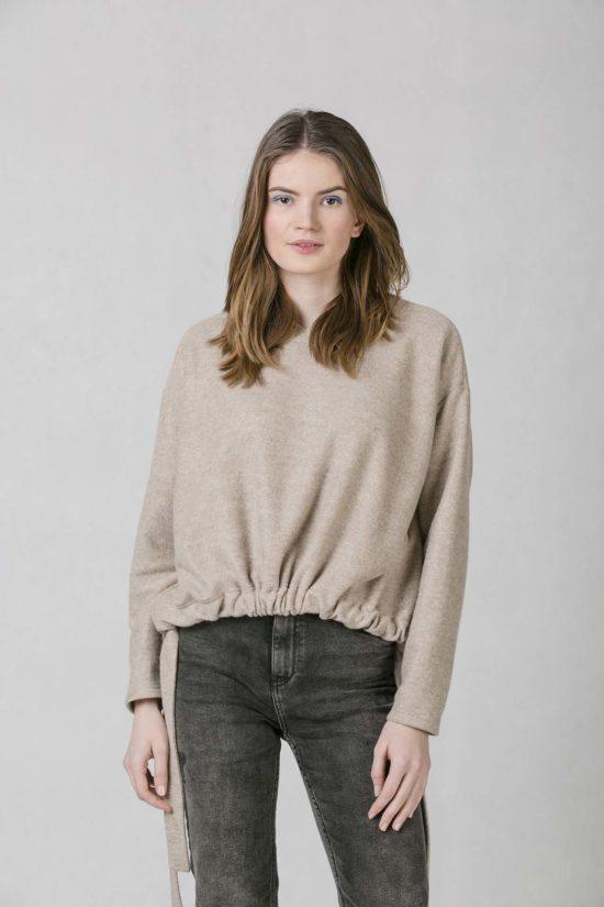 ONEDAY belt sweatshirt beige 8cde1a4e4b