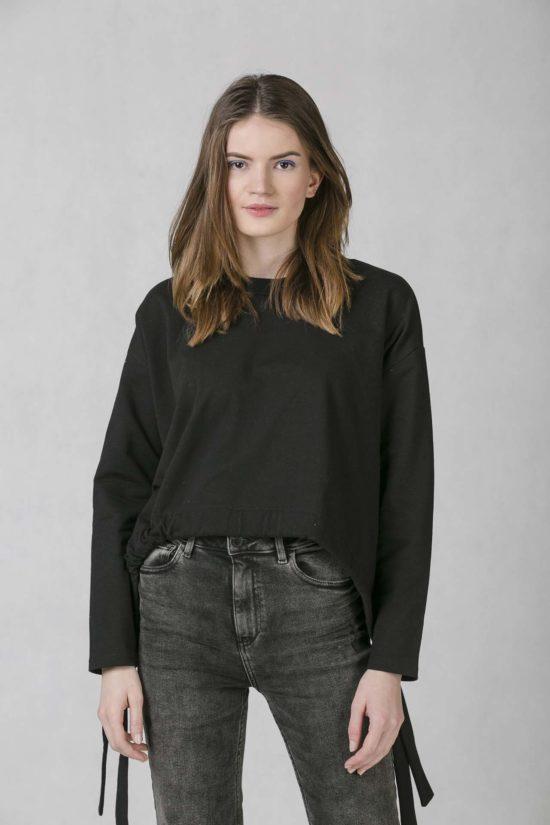 ONEDAY belt sweatshirt black f19eeb5b73