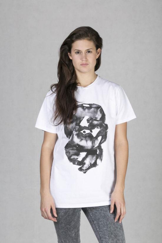 Oneday pánské oversized tričko bílé v lehce prodloužené délce s krátkým  rukávem z příjemného bavlněného úpletu 72b116bf2e