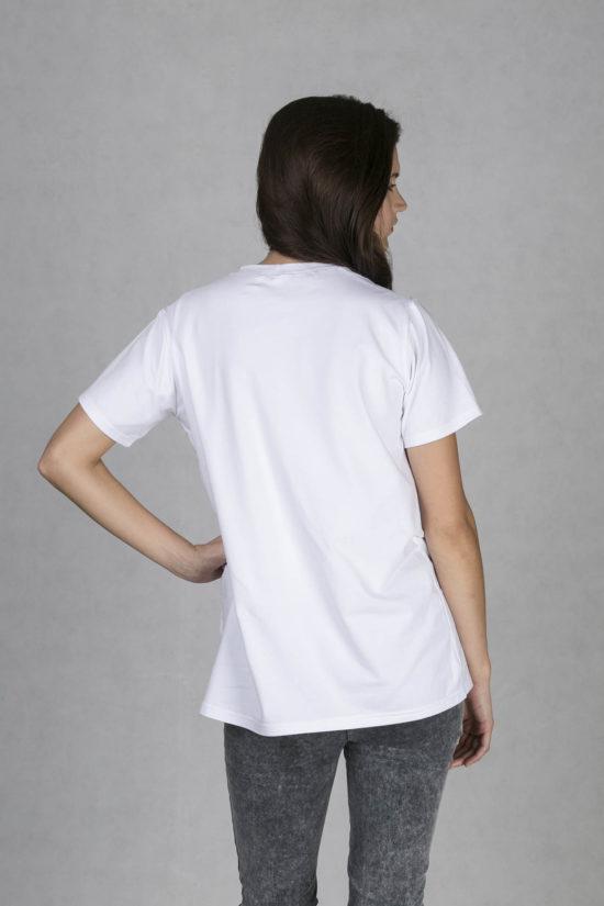 Oneday pánské oversized tričko bílé v lehce prodloužené délce s krátkým  rukávem z příjemného bavlněného úpletu b94d6125d0a
