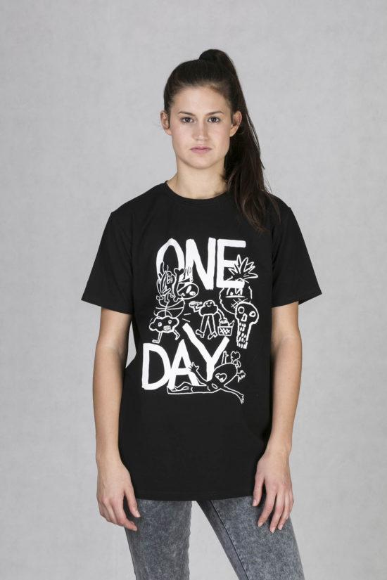 Oneday pánské oversized tričko černé v lehce prodloužené délce s krátkým  rukávem z příjemného bavlněného úpletu debf0ba5e6