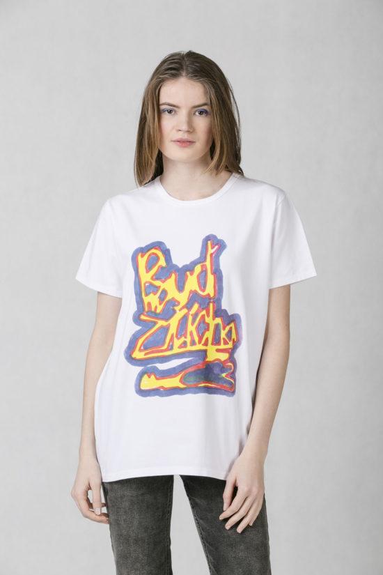 Oneday pánské oversized tričko bílé v lehce prodloužené délce s krátkým  rukávem z příjemného bavlněného úpletu 3f472537d8