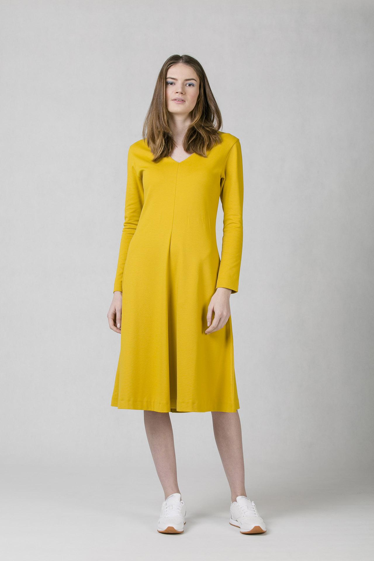 030f32bd7888 Dámské šaty s áčkovou sukní Oneday v midi délce