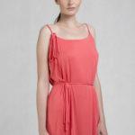 Shoulder water dress pink