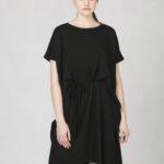 Variabilní šaty s vázačkou černé