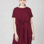Variabilní šaty s vázačkou bordó