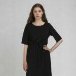 Šaty s klopou černé