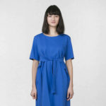 Šaty s klopou modré