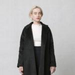 Zimní kabát z vlněné směsi černý