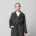 Zimní kabát z vlněné směsi šedý