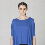 Oversized tričko modré