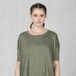 T-shirt oversized olive green