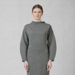 Šaty žebrované šedé