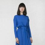 Variable dress long sleeve blue