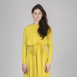Variabilní šaty dl. rukáv okrové