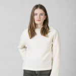Collar neck top white