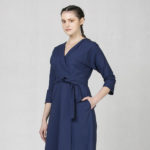 Zavinovací šaty modré