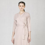 Zavinovací šaty růžové