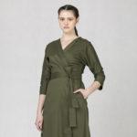 Zavinovací šaty zelené