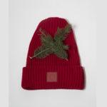 Vlněná čepice červená